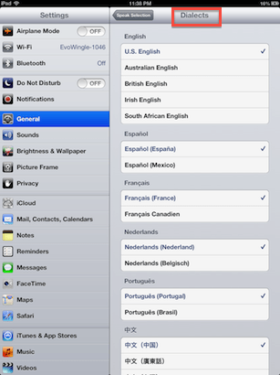 iOS Speak Selection Customization
