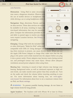 text-to-specch ibooks - iPad
