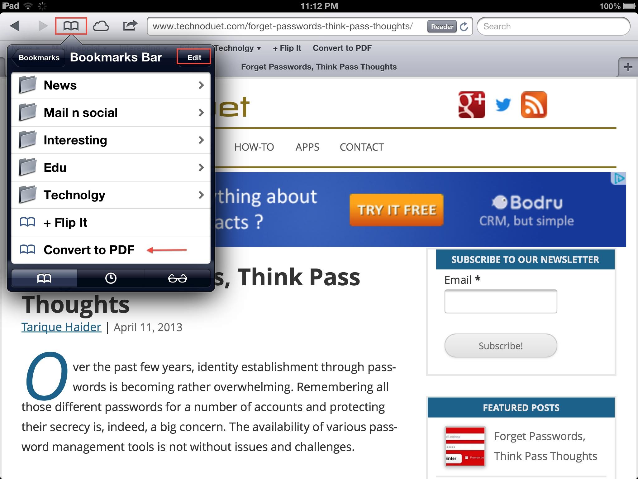 edit bookmarkbar