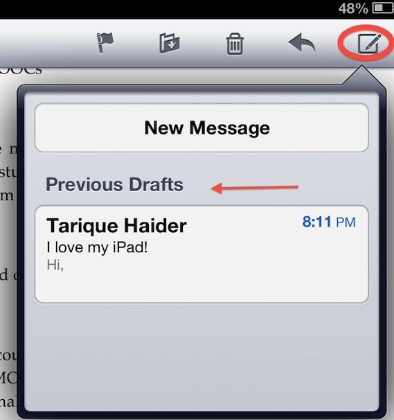 mail ipad tips
