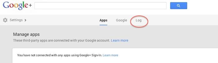 Google+ +1 Activity Log
