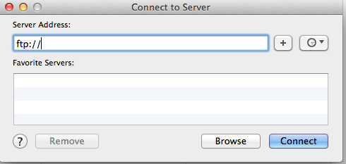A Simple Way to Connect to Remote FTP Sever on Mac